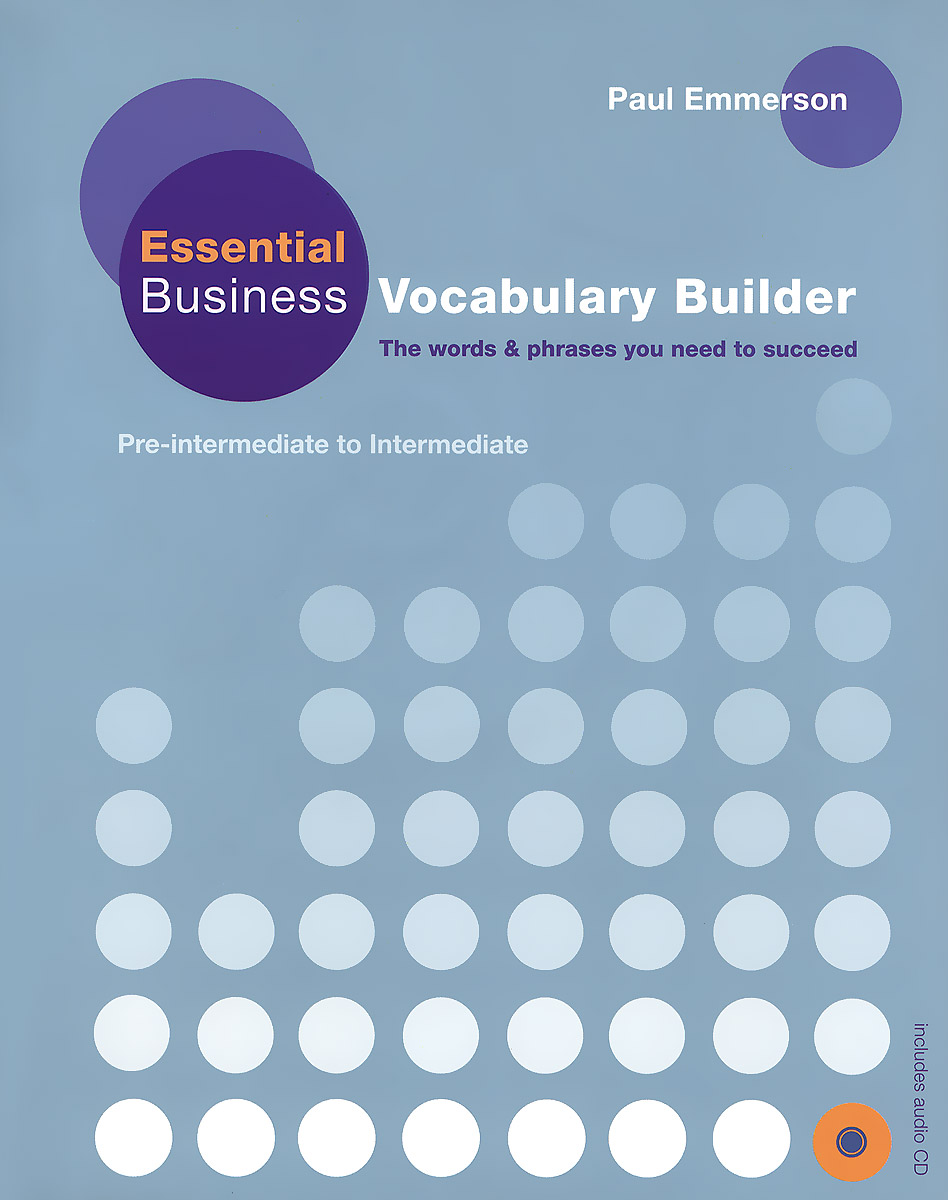 Essential Business: Vocabulary Builder: Student's Book (+ CD) agencia ele basico exercises book cd