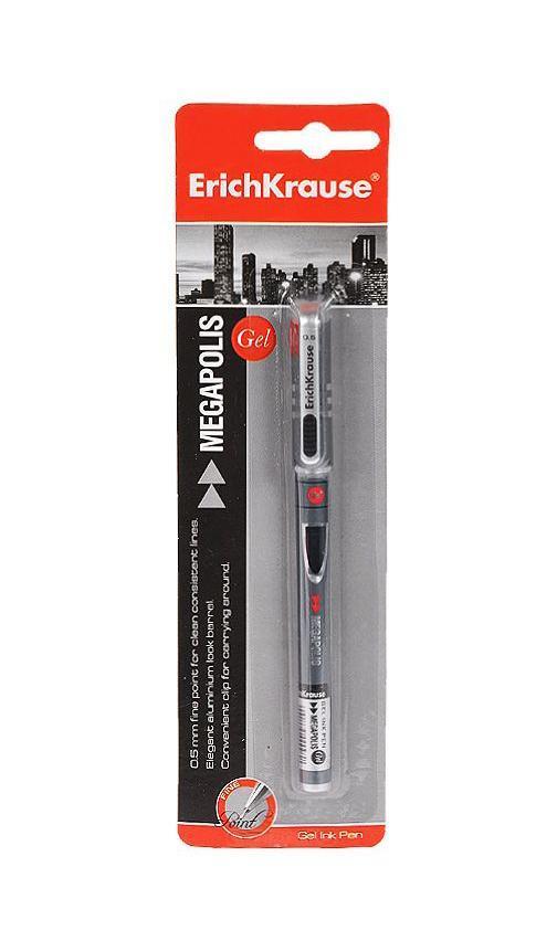 Ручка гелевая Erich Crause Megapolis Gel, цвет: черныйEK17752Характеристики:Материал: пластик, металл, резина. Толщина линии: 0,5 мм. Длина ручки: 14 см. Цвет чернил: черный. Размер упаковки: 6 см х 21 см х 1,5 см. Изготовитель:Китай.