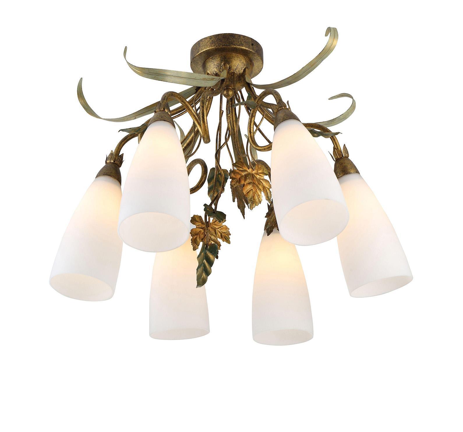 A8935PL-6GA TIPICO Потолочная люстраA8935PL-6GAСветильник отличается оригинальным и стильным дизайном, который внесет особую атмосферу в ваш дом. Элегантная форма светильника подойдет для любого интерьера.