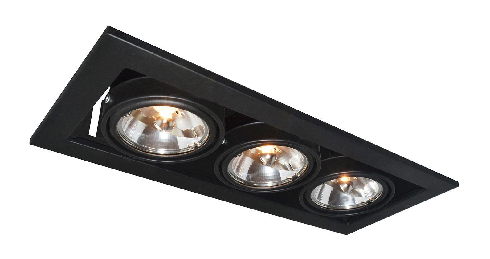 A5930PL-3BK TECHNIKA Встраиваемый светильникA5930PL-3BK3xG5.3x50W Материал: Арматура: Металл крашеныйРазмер: 355x145x120Цвет: Черный