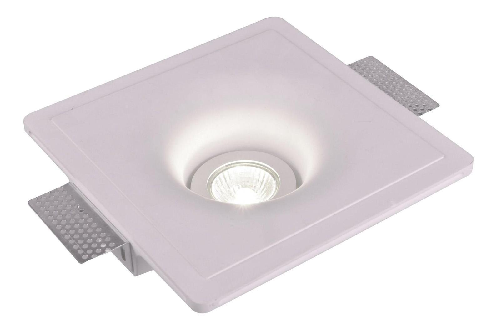 A9410PL-1WH INVISIBLE Встраиваемый светильникA9410PL-1WH1xGU10x35W; Светильник можно красить Материал: Арматура: Гипс Размер: 204x204x66 Цвет: Белый