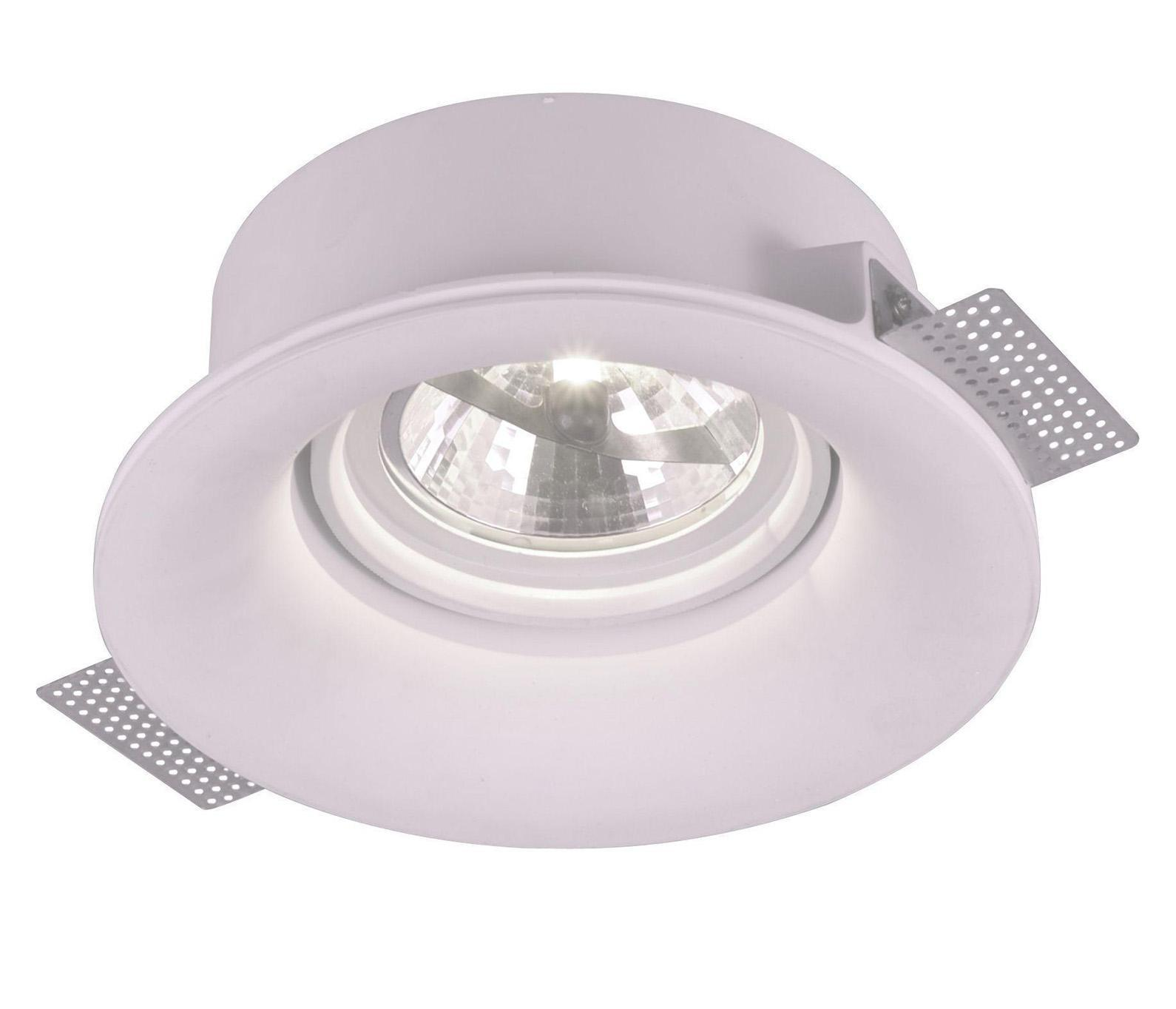 A9271PL-1WH INVISIBLE Встраиваемый светильникA9271PL-1WH1xG5.3/ar111x50W; Светильник можно красить Материал: Арматура: Гипс Размер: 230x230x86 Цвет: Белый