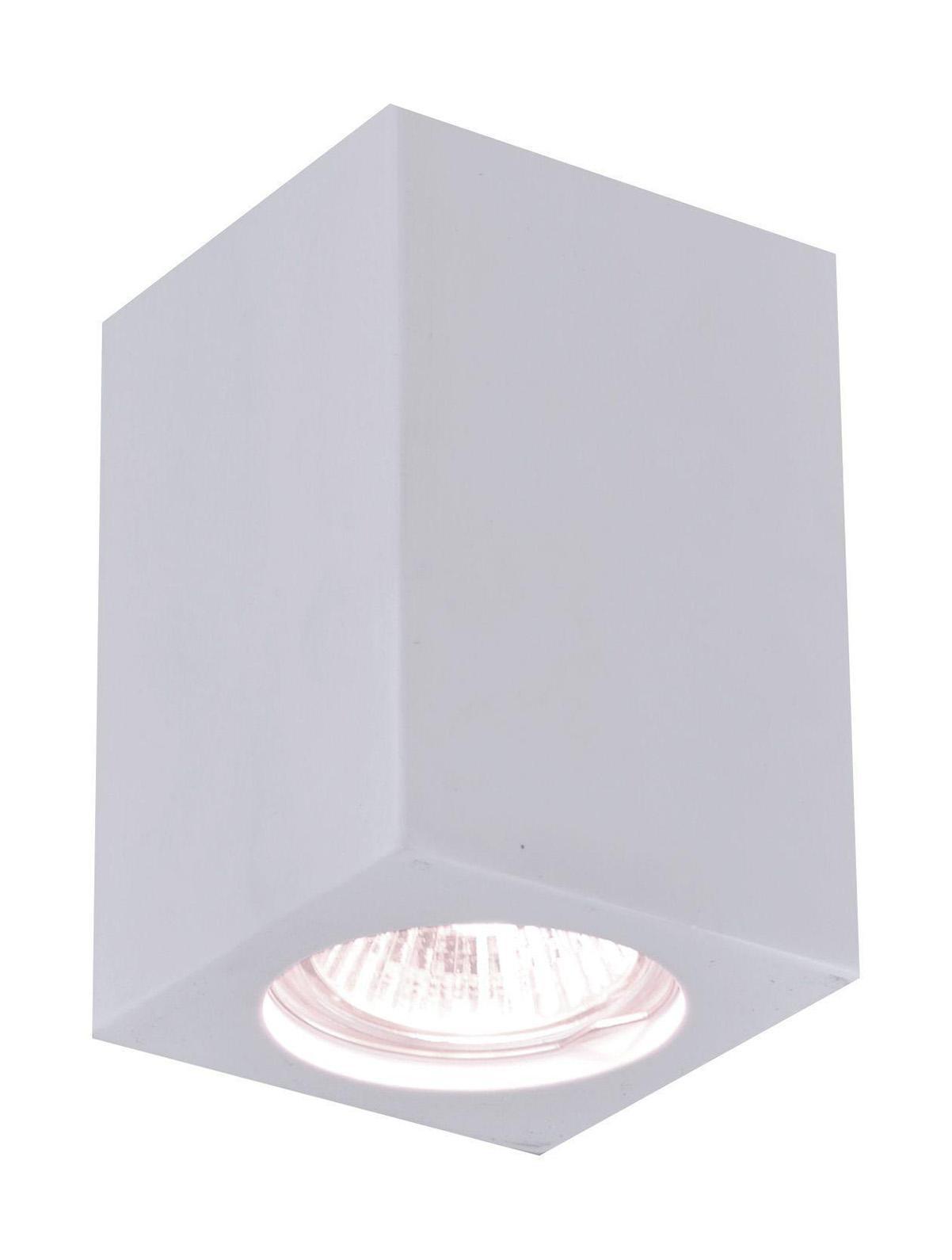 A9264PL-1WH TUBO Встраиваемый светильникA9264PL-1WH1xGU10x35W; Светильник можно красить Материал: Арматура: Гипс Размер: 70x70x90 Цвет: Белый