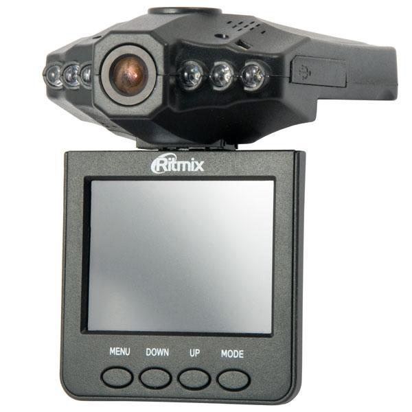 Ritmix AVR-330 видеорегистраторAVR-330Ritmix AVR-330 – это экономичный автомобильный видеорегистратор* с полным набором базовых функций (цветной TFT-дисплей, режим ночной съемки, встроенный аккумулятор). Максимальное разрешение видео 1280x960 достигается средствами интерполяции и обеспечивает возможность распознания автомобильного номера на расстоянии 1-3 м.Особенности AVR-330: поворотный дисплей (270°), функция цифрового увеличения (8x zoom), улучшенная функция ночной съемки (6 инфракрасных диодов), датчик движения, возможность отключения звука при видеозаписи.Датчик движения обеспечивает возможноcть мониторинга обстановки вблизи припаркованного автомобиля. Датчик срабатывает при обнаружении движущихся объектов в поле видимости камеры видеорегистратора и инициирует видеозапись, которая останавливается автоматически при отсутствии движения вблизи автомобиля.
