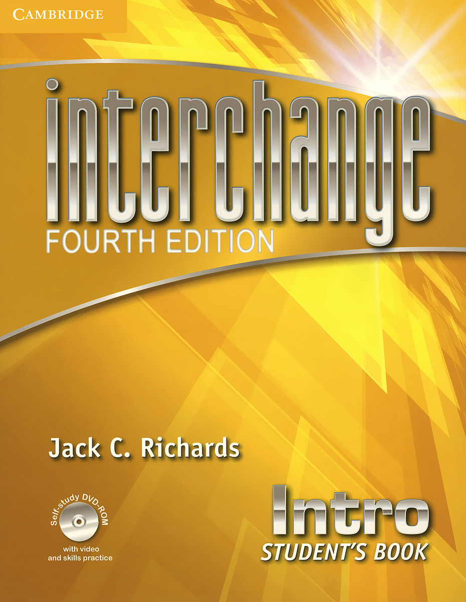 Interchange: Intro: Students Book (+ DVD-ROM) murphy r essential grammar in use 3rd edition classware for elementary students of english dvd rom