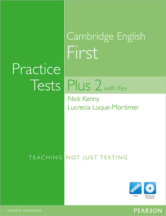 Cambridge English First: Practice Tests Plus 2: Student's Book with Key (+ 2 CD и 2 DVD) young learners english practice tests flyers dvd rom