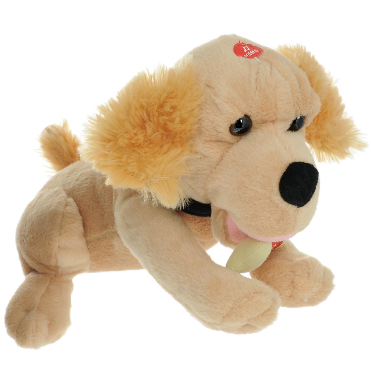 Интерактивная игрушка Fluffy Family Пес Рыжик интерактивная игрушка fluffy family бобер повторяшка от 3 лет 681012 коричневый