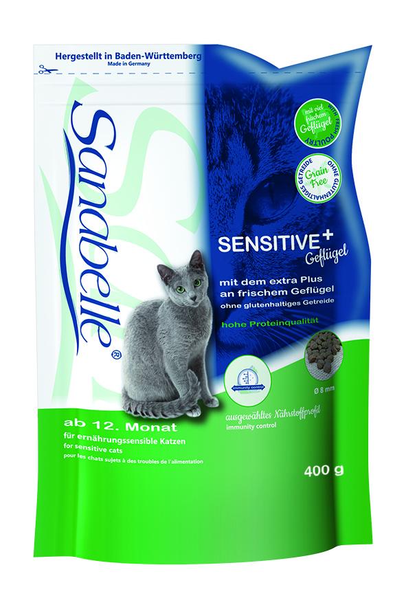 Корм сухой Sanabelle Sensitive для кошек с чувствительным пищеварением, с птицей, 400 г пудовъ мука ржаная обдирная 1 кг
