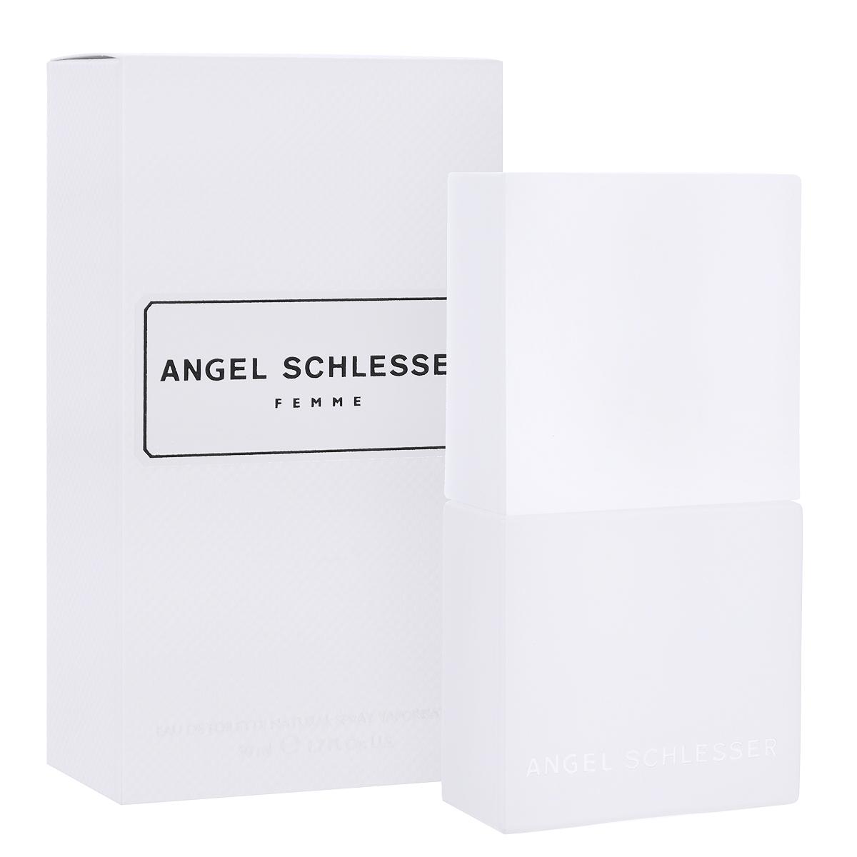 Angel Schlesser Туалетная вода Femme, женская, 50 мл44972Женский аромат Femme от Angel Schlesser прекрасно подойдет современным девушкам и женщинам, которые следят за новинками в мире моды и парфюмерии. Создатель аромата - один из самых знаменитых носов Альберто Мориллас. Прозрачность и яркость - абстрактные понятия, но благодаря молекуле второго поколения Гедиону, усиливающей степень и объем распространения аромата, парфюмеру удалось воплотить их в уникальной формуле, удивительно непохожей на другие, соблазнительной и разоблачающей.Классификация аромата: цветочный, цитрусовый.Пирамида аромата: Верхние ноты: бергамот, мандарин, нероли, корень можжевельника.Ноты сердца: лепестки ландыша, Гедион, зеленый и красный перец.Ноты шлейфа:кардамон, шалфей, белый мускус. Ключевые слова свежий, элегантный, чувственный! Туалетная вода - один из самых популярных видов парфюмерной продукции. Туалетная вода содержит 4-10%парфюмерного экстракта. Главные достоинства данного типа продукции заключаются в доступной цене, разнообразии форматов (как правило, 30, 50, 75, 100 мл), удобстве использования (чаще всего - спрей). Идеальна для дневного использования. Товар сертифицирован.Краткий гид по парфюмерии: виды, ноты, ароматы, советы по выбору. Статья OZON Гид