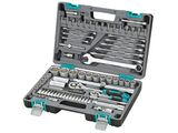 Набор инструментов Stels, 82 предмета14105Набор инструментов торговой марки Stels разработан специально для автолюбителей и центров технического обслуживания. Каждый этап производства контролируется в соответствии с международными стандартами.Головки и комбинированные ключи изготовлены из хромованадиевой стали, придающей инструменту исключительную твердость в сочетании с легкостью.Набор упакован в кейс, изготовленный из жесткого противоударного пластика. Состав набора: Ключ трещоточный 1/2. Ключ трещоточный 1/4. Головки торцевые 1/2: 14 мм, 15 мм, 16 мм, 17 мм, 18 мм, 19 мм, 20 мм, 22 мм, 24 мм, 27 мм, 30 мм, 32 мм. Головки торцевые 1/4: 4 мм, 4,5 мм, 5 мм, 5,5 мм, 6 мм, 7 мм, 8 мм, 9 мм, 10 мм, 11 мм, 12 мм, 13 мм, 14 мм. Удлинитель гибкий с отверточной рукояткой 1/4. Ключи комбинированные 8 мм, 10 мм, 11 мм, 12 мм, 13 мм, 14 мм, 17 мм, 19 мм, 22 мм. Кардан шарнирный 1/2. Кардан шарнирный 1/4. Удлинитель 1/2: 125 мм, 250 мм. Удлинитель 1/4: 50 мм, 100 мм. Адаптер для бит 1/4 (длина 30 мм). Головки свечные 1/2: 16 мм, 21 мм. Вороток Т-образный 1/4. Биты с торцевой головкой 1/4: H3, H4, H5, H6, T8, T10, T15, T20, T25, T30, SL4, SL5,5, SL7, PH1, PH2, PZ1, PZ2. Адаптер 1/2 на 3/8. Держатель для бит 1/2 на 5/16. Биты 5/16: T40, T45, T50, T55, SL8, SL10, SL12, Ph3, PH4, PZ3, PZ4, H8, H10, H12, H14. Отвертка-битодержатель 1/4.