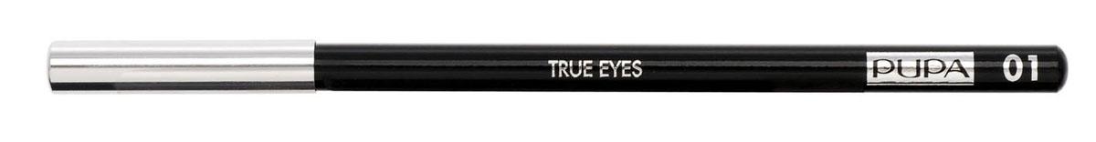 PUPA Карандаш для век TRUE EYES, тон 01 черный , 1.4 г048901Pupa True Eyes - карандаш для глаз, подходящий для подводки внутренней стороны века. Исключительно мягкая текстура обеспечивает ровное и комфортное нанесение. Инновационная технология придает стойкость цвету. Быстро и легко наносится, долго держится на глазах, не оставляет разводов. Натуральные антиоксидантные реагенты бережно относятся к деликатной области у глаз. Характеристики:Вес: 1,4 г. Тон: №01 (черный). Производитель: Италия. Артикул: 048901. Товар сертифицирован. Pupa - итальянский бренд, принадлежащий компании Micys. Компания была основана в 1970-х годах в Милане и стала любимым детищем семьи Гатти.Pupa - это декоративная косметика для тех, кто готов экспериментировать, создавать новые образы и менять свой стиль в поисках новых проявлений своей индивидуальности. Яркие цвета Pupa воплощают в себе особенное видение красоты как многогранного сочетания чувственности и эпатажа, нежности и дерзости, изысканности и простоты.Pupa не забывает и о здоровье, прежде всего - здоровье кожи. Составы косметики Pupa тщательно тестируются на безопасность для кожи и постоянно совершенствуются по мере появления новых научных разработок.