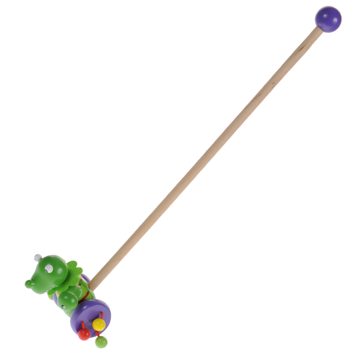 Mapacha Деревянная игрушка-каталка Динозаврик деревянные игрушки mapacha сортер каталка машинка