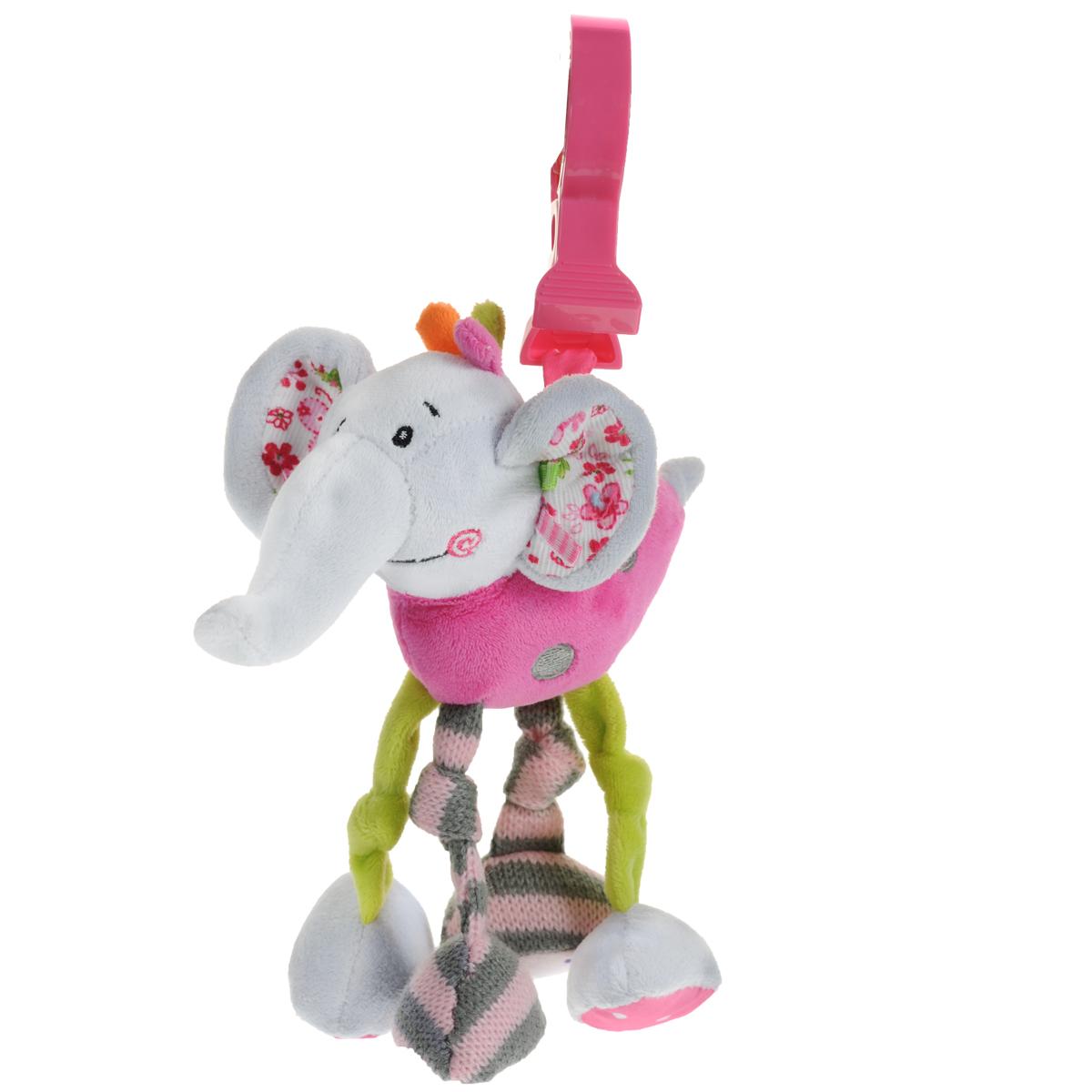 Развивающая игрушка-подвеска Жирафики Слоненок Тим с вибрацией жирафики развивающая игрушка подвеска веселые малыши