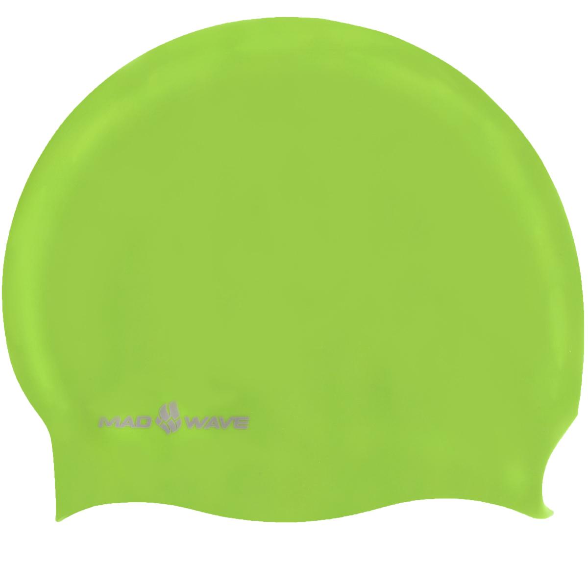 Шапочка для плавания Mad Wave Reverse Champion, цвет: черный, зеленый100105253D двусторонняя шапочка для плавания Mad Wave Reverse Champion изготовлена из мягкого прочного силикона, который обеспечивает идеальную подгонку и комфорт. Материал шапочки не вызывает раздражения, что гарантирует безопасность использования шапочки. Силикон не пропускает воду и приятен на ощупь.