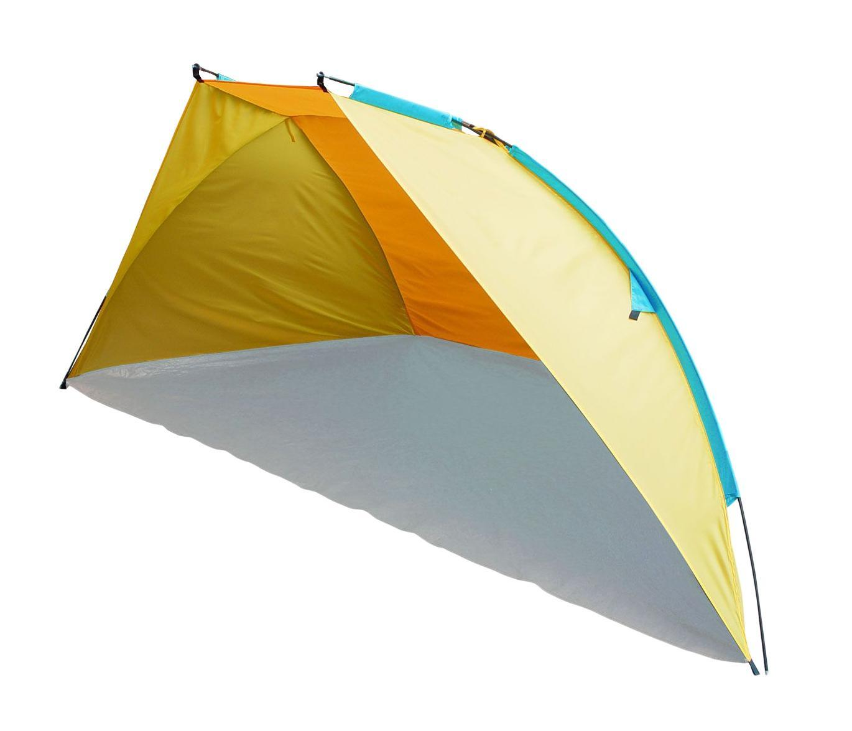 Тент пляжный TREK PLANET Carribean Beach, цвет: желтый, оранжевый, 270 см х 120 см х 120 см