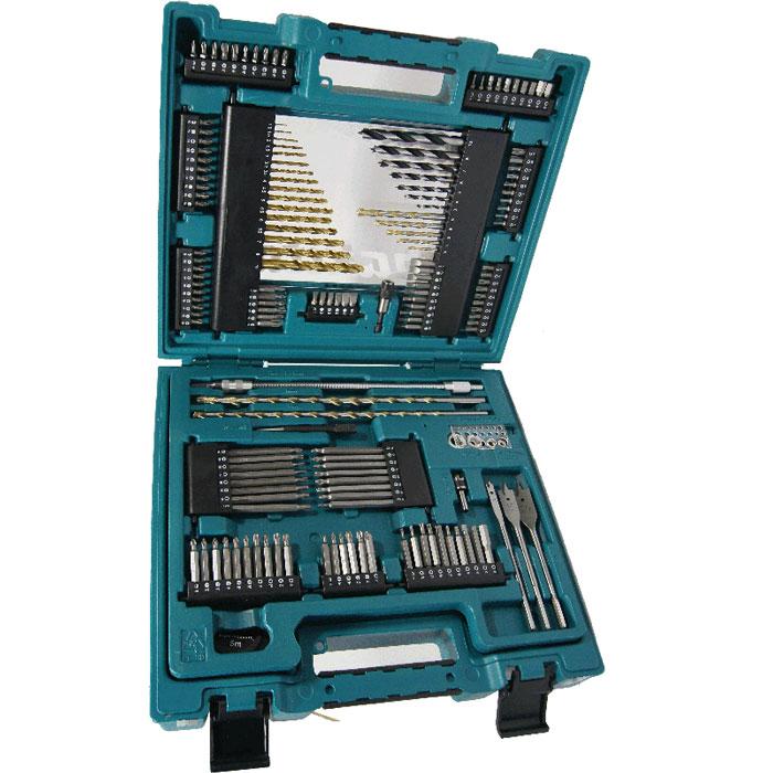 Набор оснастки Makita, 200 предметов168487Набор оснастки Makita предназначен для работы с резьбовыми соединениями, а также для строительных работ. Инструменты выполнены из высококачественной стали.Состав набора:Нож.Бокорезы.Пассатижи.Разводной гаечный ключ.Фонарик.Пилы кольцевые: 32 мм, 38 мм, 45 мм, 54 мм, 68 мм.Вал со сверлом.Зенкер.Кернер.Отвертка ручная.Биты разной длины: H3 x 2, H4 x 2, H5 x 2, H6 x 2, H8 x 2, PH0, PH1 x 2, PH3 x 2, PZ0, PZ1 x 2, PZ3 x 2, T10 x 2, T15 x 2, T20 x 2, T25 x 2, T40, T30 x 10, PH2 x 10, PZ2 x 10, SL0,6, SL0,8, SL1, SL1,2, SL1,6, SL0,5 x 2, SL0,6 x 2, SL0,8 x 2, SL1, SL1,2 x 2, SL1,6, PH0, PH1 x 2, PH3 x 2, PH4, PH0, PH1, PH2 x 2, PH3, PZ0, PZ1, PZ2 x 2, PZ3, T10, T15, T20, T25, T30 x 2, T10, T15, T20, T25, T40, H3, H4, H5, H6, H8, PZ0, PZ1 x 2, PZ3 x 2, PZ4, PH2 x 3, PZ2 x 3, T30 x 4.Магнитный держатель.Магнитный зажим.Сверла для дерева: 3 мм, 4 мм, 5 мм, 6 мм, 7 мм, 8 мм, 10 мм.Сверла для бетона: 3 мм, 4 мм, 5 мм, 6 мм, 8 мм х 300 мм, 10 мм х 300 мм.Сверла для металла: 1 мм, 1,5 мм, 2 мм, 2,5 мм, 3 мм, 3,2 мм, 3,5 мм, 4 мм, 4,5 мм, 5 мм, 5,5 мм, 6 мм, 6,5 мм, 7 мм, 8 мм, 10 мм.Рулетка.Измеритель диаметра.Перьевые сверла для дерева: 8 мм, 15 мм, 20 мм.Г-образный ключ.Глубиномеры: 3 мм, 5 мм, 8 мм, 10 мм.Уровень.Гибкий держатель бит.Головки торцевые: 5 мм, 6 мм, 7 мм, 8 мм, 9 мм, 10 мм, 11 мм, 13 мм.