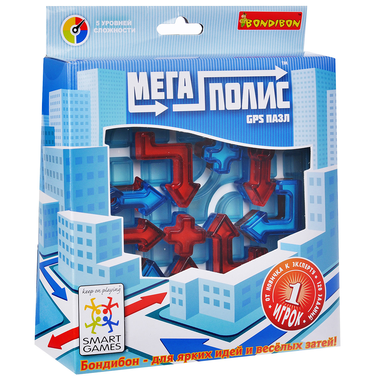 Bondibon Обучающая игра Мегаполис-GPS пазл bondibon обучающая игра замок загадок нескучный город