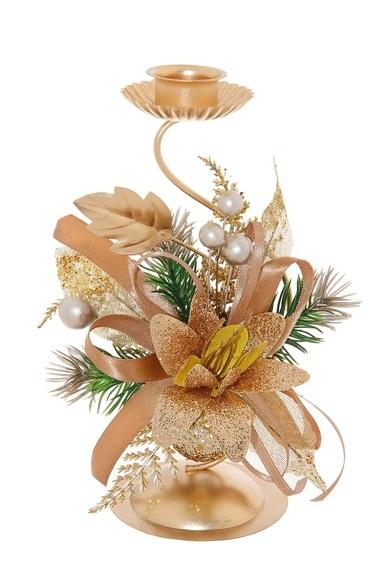 Подсвечник Sima-land Золотая ленточка, цвет: золотистый. 706017706017