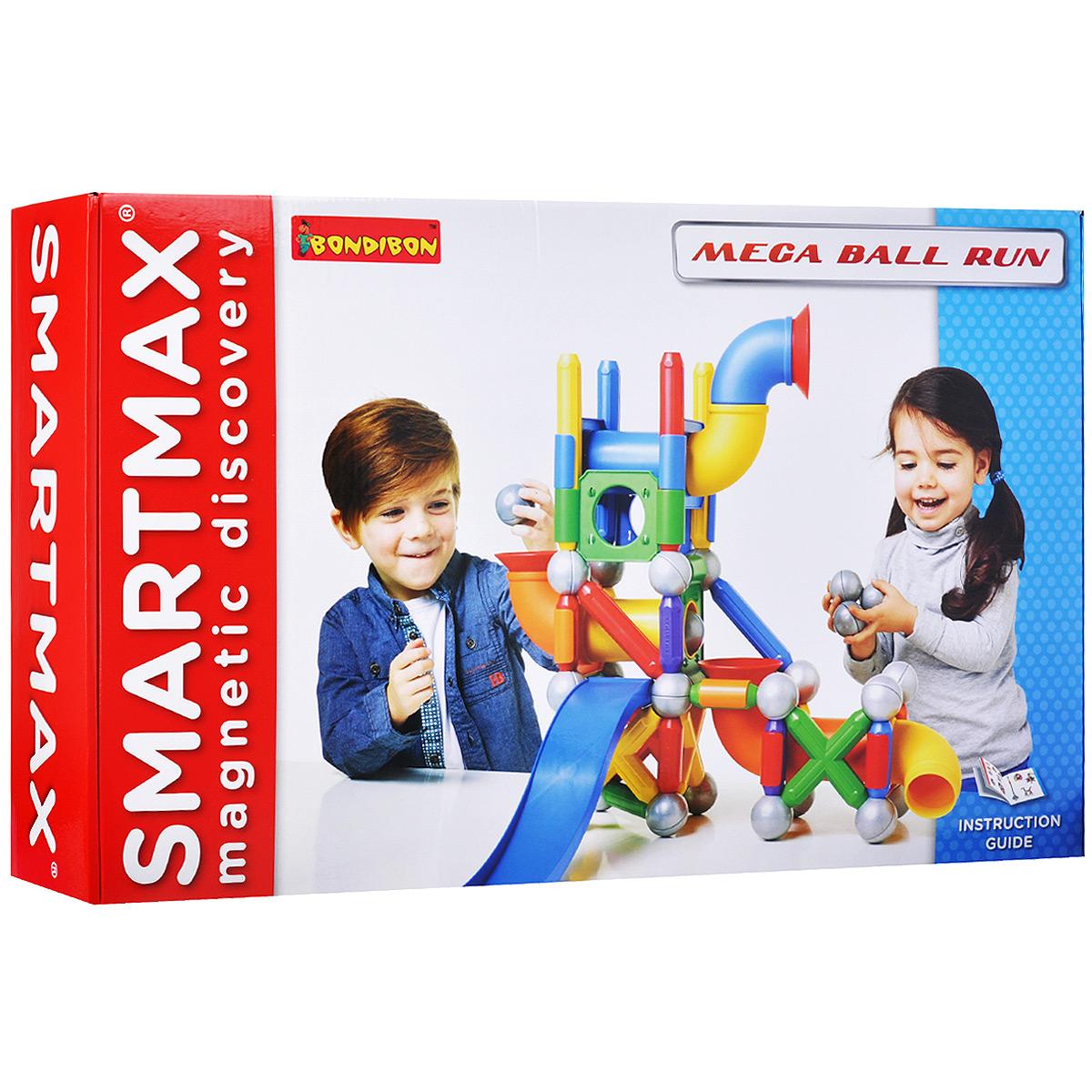 Bondibon Smartmax Конструктор магнитный Мега Шар-трек
