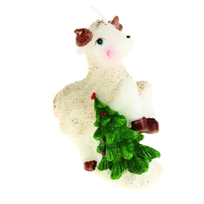 Свеча декоративная Sima-land Овца с елочкой. 823804 свеча декоративная sima land цветок цвет оранжевый высота 10 5 см