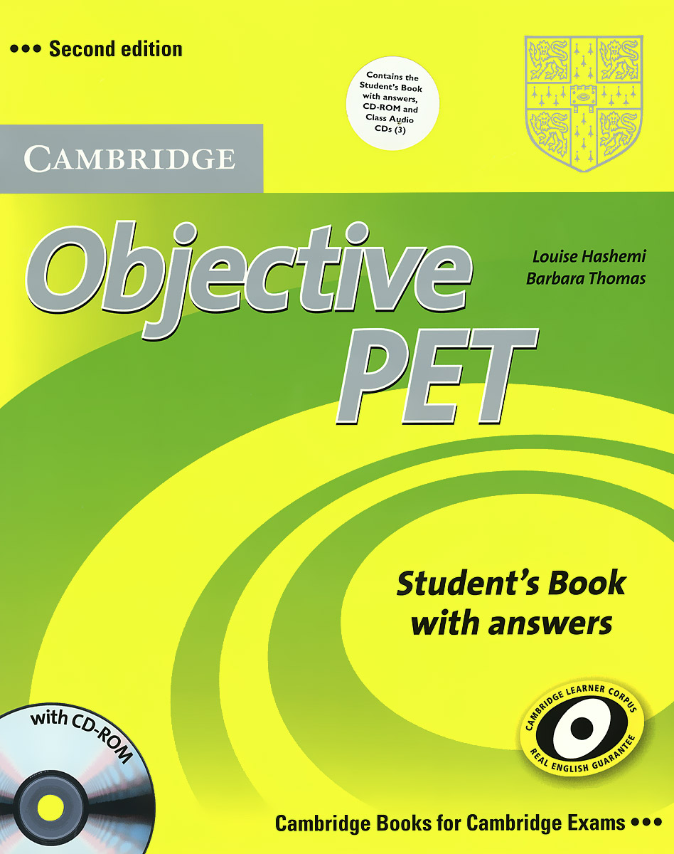 Objective PET: Student's Book with Answers (+ CD-ROM и 3 CD) includes