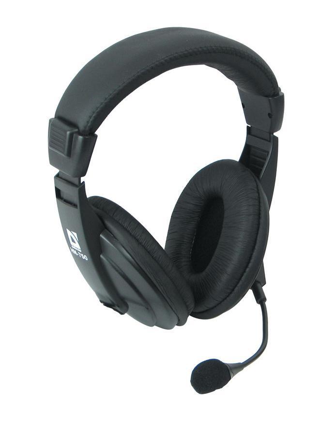 Defender Gryphon HN-750 наушники с микрофономGryphon HN-750Черные наушники Defender Gryphon HN-750 имеют регулируемое оголовье. Оно гарантирует крепкую посадку и исключает появление усталости при долгом использовании. Охватывающая конструкция обеспечивает высокую звукоизоляцию. Акустическое оформление закрывает корпусом заднюю часть динамиков. Интервал воспроизводимых частот 18-20000 Гц позволяет воплотить выразительное звучание любимых композиций.Наличие микрофона делает возможным общение в Скайпе или других сервисах интернет-телефонии, могут они послужить и геймерам для общения в голосовом командном чате. Гарнитура Defender Gryphon HN-750 подходит для ежедневной эксплуатации. Простым движением пальца вы можете изменять громкость при прослушивании. Динамик в 40 мм в каждом наушнике обеспечивает полное проникновение в любимую музыку. Высокая чувствительность в 105 дБ с импедансом 32 Ом гарантирует звонкое воспроизведение композиций. При помощи двужильного кабеля длиной 2 м осуществляется подключение к музыкальному устройству через разъем jack 3.5 мм. Фактический вес наушников – 295 г. Количество штекеров: 2.