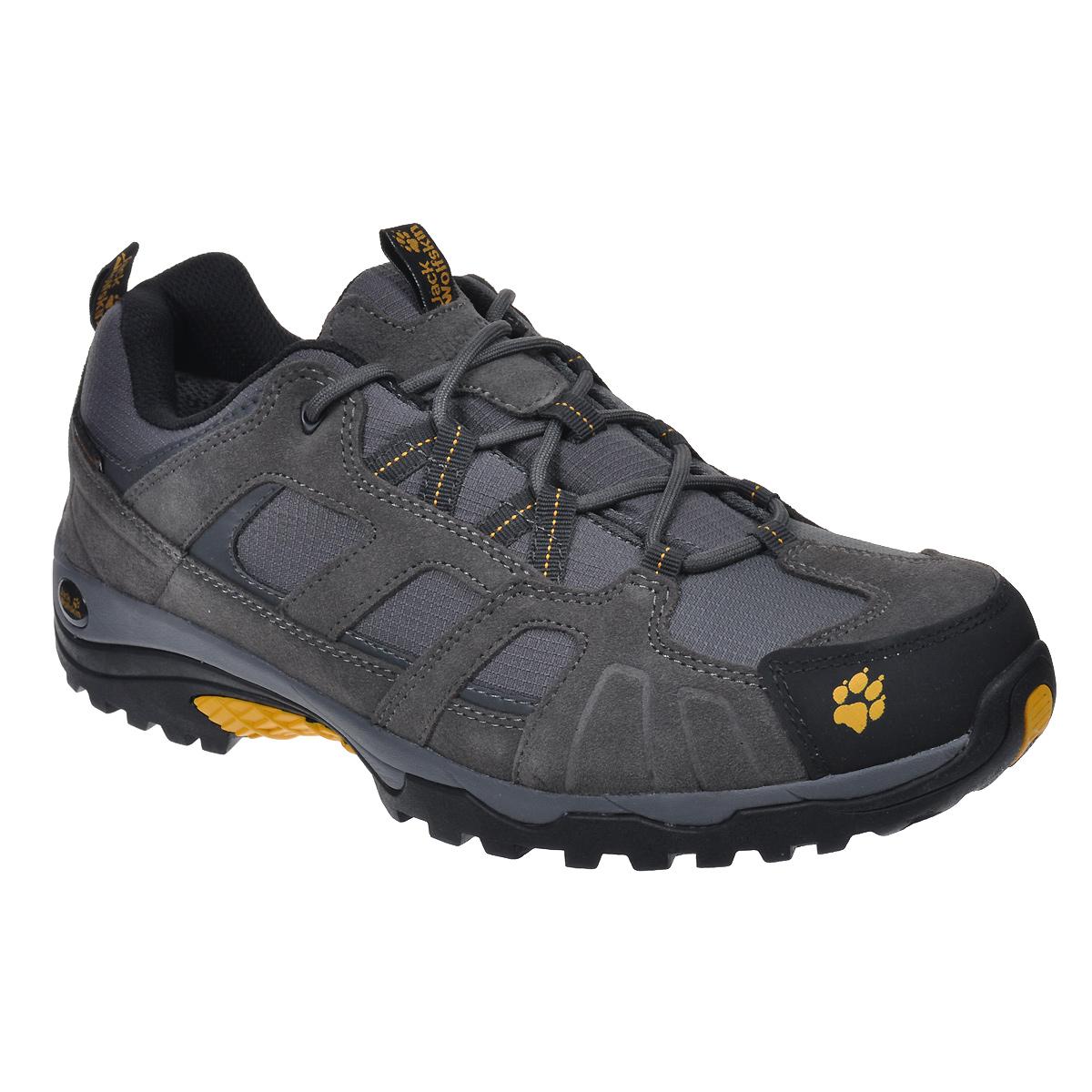 Купить Полуботинки трекинговые мужские Jack Wolfskin Vojo Hike Texapore, цвет: серый. 4011381-3800090. Размер 8 (40, 5)