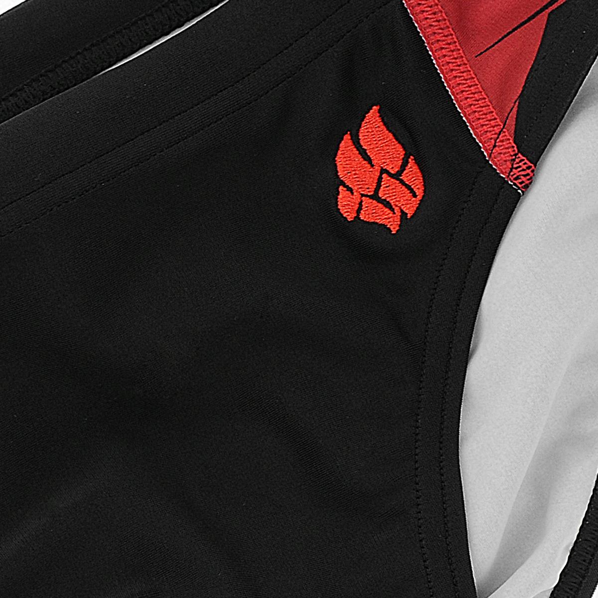 Плавки мужские MadWave Harrier, цвет: черный, красный. M0212 10 4 N3W. Размер S (46)