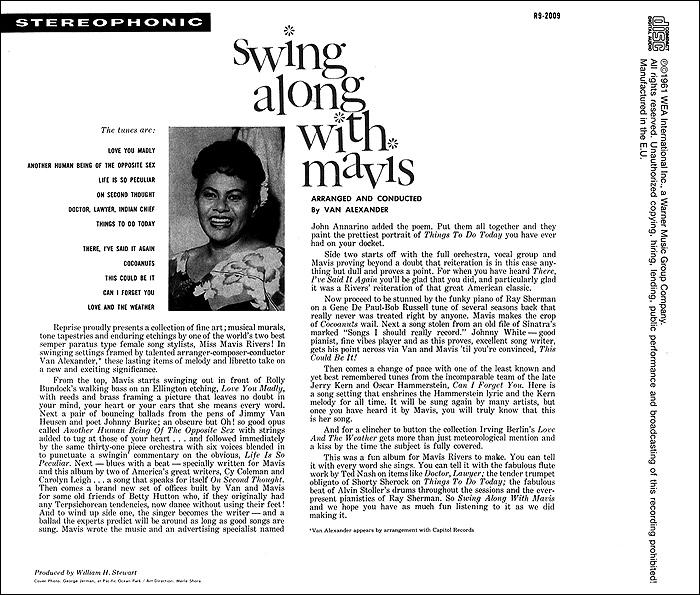 Mavis Rivers.  Swing Along With Mavis Warner Music,Wea International Inc.