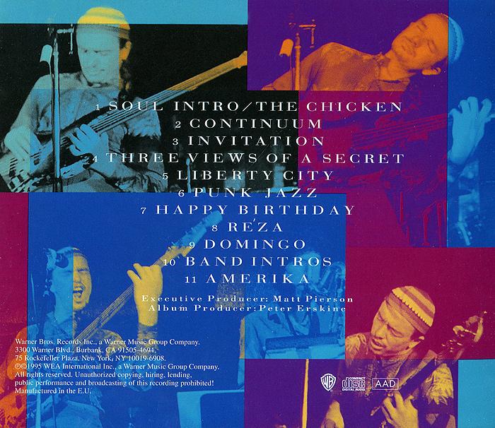 Jaco Pastorius.  The Birthday Concert Warner Music,Wea International Inc.