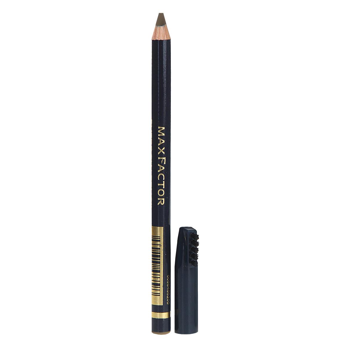 Max Factor Карандаш для бровей Eyebrow Pencil, тон №02 Hazel, цвет: светло-коричневый max factor карандаш для глаз liquid effect pencil тон 05 brown blaze цвет коричневый