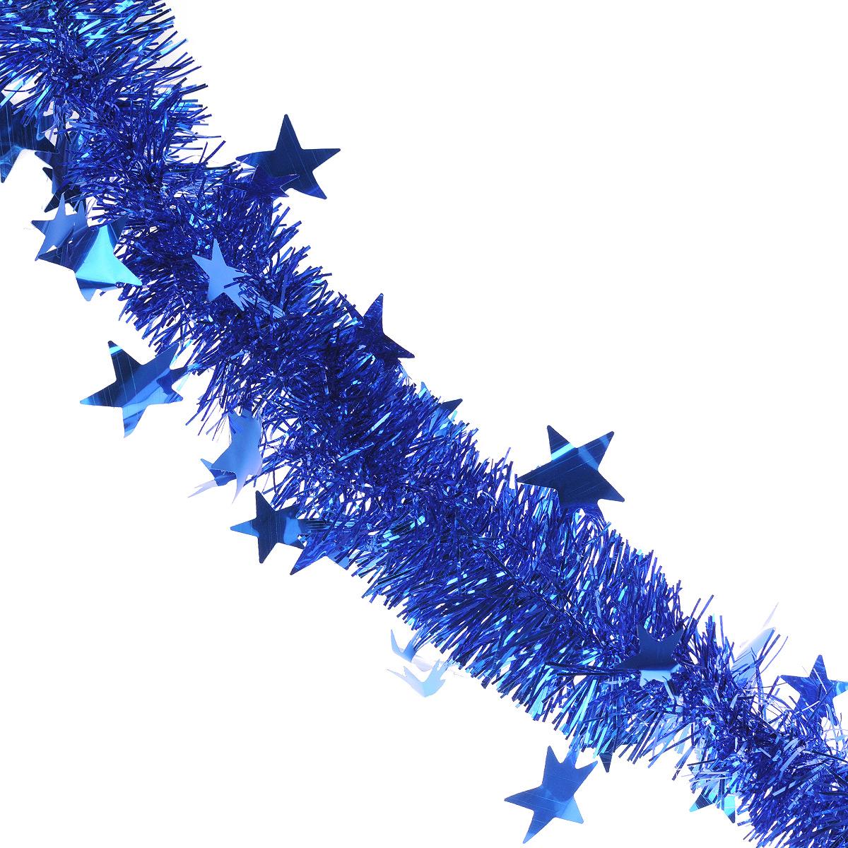 Мишура новогодняя Sima-land, цвет: синий, диаметр 5 см, длина 2 м. 702609702609Мишура новогодняя Sima-land, выполненная из фольги, поможет вам украсить свой дом к предстоящим праздникам. Мишура армирована, то есть имеет проволоку внутри и способна сохранять приданную ей форму.Новогодняя елка с таким украшением станет еще наряднее. Новогодней мишурой можно украсить все, что угодно - елку, квартиру, дачу, офис - как внутри, так и снаружи. Можно сложить новогодние поздравления, буквы и цифры, мишурой можно украсить и дополнить гирлянды, можно выделить дверные колонны, оплести дверные проемы. Коллекция декоративных украшений из серии Зимнее волшебство принесет в ваш дом ни с чем несравнимое ощущение праздника! Создайте в своем доме атмосферу тепла, веселья и радости, украшая его всей семьей.