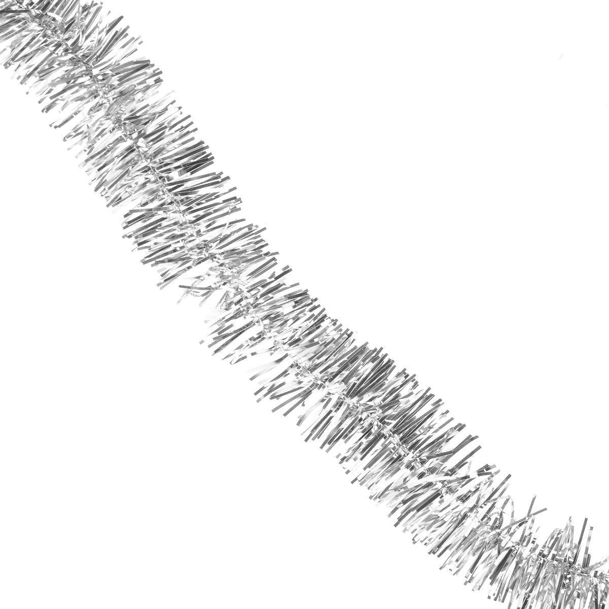 Мишура новогодняя Sima-land, цвет: серебристый, диаметр 1,5 см, длина 1,3 м. 701303701303Мишура новогодняя Sima-land, выполненная из фольги, поможет вам украсить свой дом к предстоящим праздникам. Мишура армирована, то есть имеет проволоку внутри и способна сохранять приданную ей форму.Новогодняя елка с таким украшением станет еще наряднее. Новогодней мишурой можно украсить все, что угодно - елку, квартиру, дачу, офис - как внутри, так и снаружи. Можно сложить новогодние поздравления, буквы и цифры, мишурой можно украсить и дополнить гирлянды, можно выделить дверные колонны, оплести дверные проемы. Коллекция декоративных украшений из серии Зимнее волшебство принесет в ваш дом ни с чем несравнимое ощущение праздника! Создайте в своем доме атмосферу тепла, веселья и радости, украшая его всей семьей.