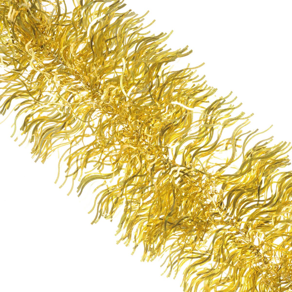 Мишура новогодняя Sima-land, цвет: золотистый, диаметр 20 см, длина 2 м. 702634702634Мишура новогодняя Sima-land, выполненная из фольги, поможет вам украсить свой дом к предстоящим праздникам. Мишура армирована, то есть имеет проволоку внутри и способна сохранять приданную ей форму.Новогодняя елка с таким украшением станет еще наряднее. Новогодней мишурой можно украсить все, что угодно - елку, квартиру, дачу, офис - как внутри, так и снаружи. Можно сложить новогодние поздравления, буквы и цифры, мишурой можно украсить и дополнить гирлянды, можно выделить дверные колонны, оплести дверные проемы. Коллекция декоративных украшений из серии Зимнее волшебство принесет в ваш дом ни с чем несравнимое ощущение праздника! Создайте в своем доме атмосферу тепла, веселья и радости, украшая его всей семьей.