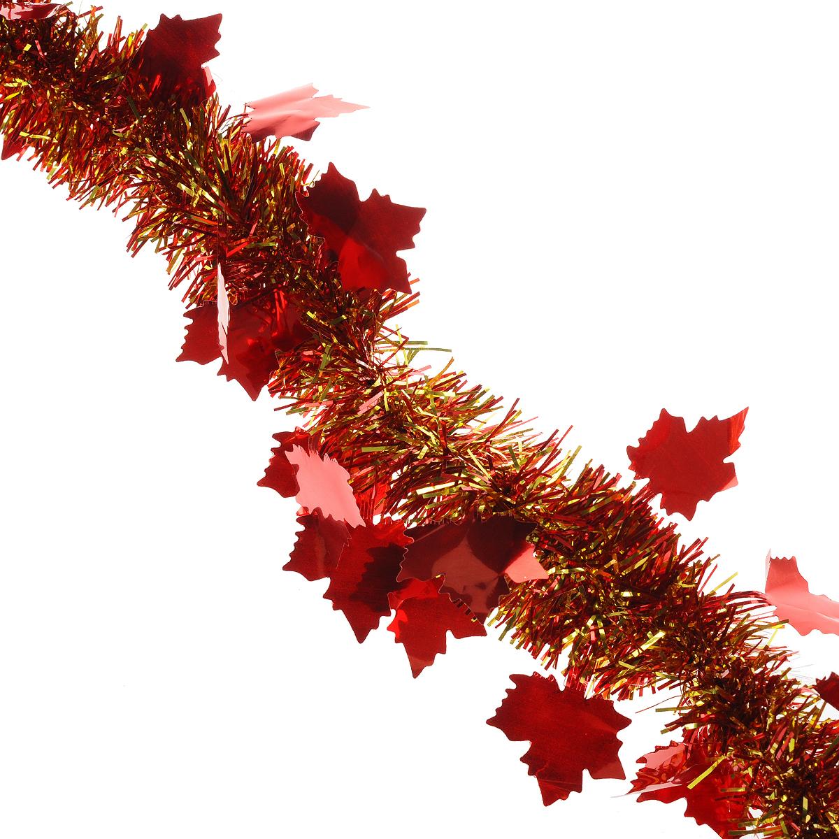 Мишура новогодняя Sima-land, цвет: золотистый, красный, диаметр 5 см, длина 2 м. 702606702606Новогодняя мишура Sima-land, выполненная из фольги, поможет вам украсить свой дом к предстоящим праздникам. А новогодняя елка с таким украшением станет еще наряднее. Мишура армирована, то есть имеет проволоку внутри и способна сохранять приданную ей форму. Новогодней мишурой можно украсить все, что угодно - елку, квартиру, дачу, офис - как внутри, так и снаружи. Можно сложить новогодние поздравления, буквы и цифры, мишурой можно украсить и дополнить гирлянды, можно выделить дверные колонны, оплести дверные проемы. Коллекция декоративных украшений из серии Зимнее волшебство принесет в ваш дом ни с чем несравнимое ощущение праздника! Создайте в своем доме атмосферу тепла, веселья и радости, украшая его всей семьей.