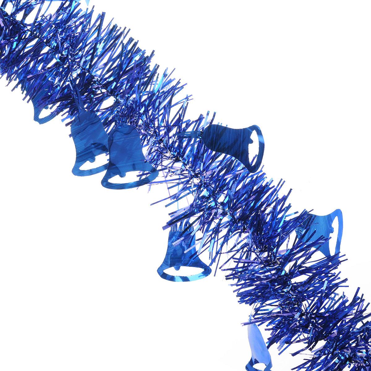 Мишура новогодняя Sima-land, цвет: синий, диаметр 8 см, длина 2 м. 702594702594Новогодняя мишура Sima-land, выполненная из фольги с дизайном в виде колокольчиков, поможет вам украсить свой дом к предстоящим праздникам. А новогодняя елка с таким украшением станет еще наряднее. Мишура армирована, то есть имеет проволоку внутри и способна сохранять приданную ей форму. Новогодней мишурой можно украсить все, что угодно - елку, квартиру, дачу, офис - как внутри, так и снаружи. Можно сложить новогодние поздравления, буквы и цифры, мишурой можно украсить и дополнить гирлянды, можно выделить дверные колонны, оплести дверные проемы. Коллекция декоративных украшений из серии Зимнее волшебство принесет в ваш дом ни с чем несравнимое ощущение праздника! Создайте в своем доме атмосферу тепла, веселья и радости, украшая его всей семьей.
