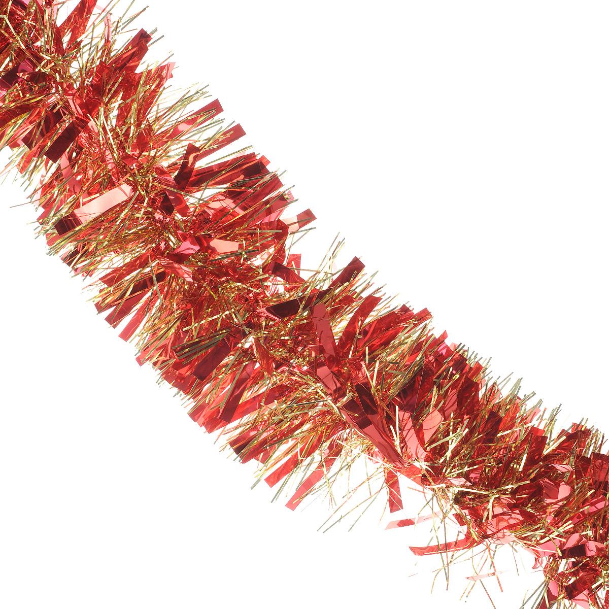 Мишура новогодняя Sima-land, цвет: красный, золотистый, диаметр 9 см, длина 200 см. 702581702581Мишура новогодняя Sima-land, выполненная из фольги, поможет вам украсить свой дом к предстоящим праздникам. Мишура армирована, то есть имеет проволоку внутри и способна сохранять приданную ей форму.Новогодней мишурой можно украсить все, что угодно - елку, квартиру, дачу, офис - как внутри, так и снаружи. Можно сложить новогодние поздравления, буквы и цифры, мишурой можно украсить и дополнить гирлянды, можно выделить дверные колонны, оплести дверные проемы. Коллекция декоративных украшений из серии Зимнее волшебство принесет в ваш дом ни с чем несравнимое ощущение праздника! Создайте в своем доме атмосферу тепла, веселья и радости, украшая его всей семьей.