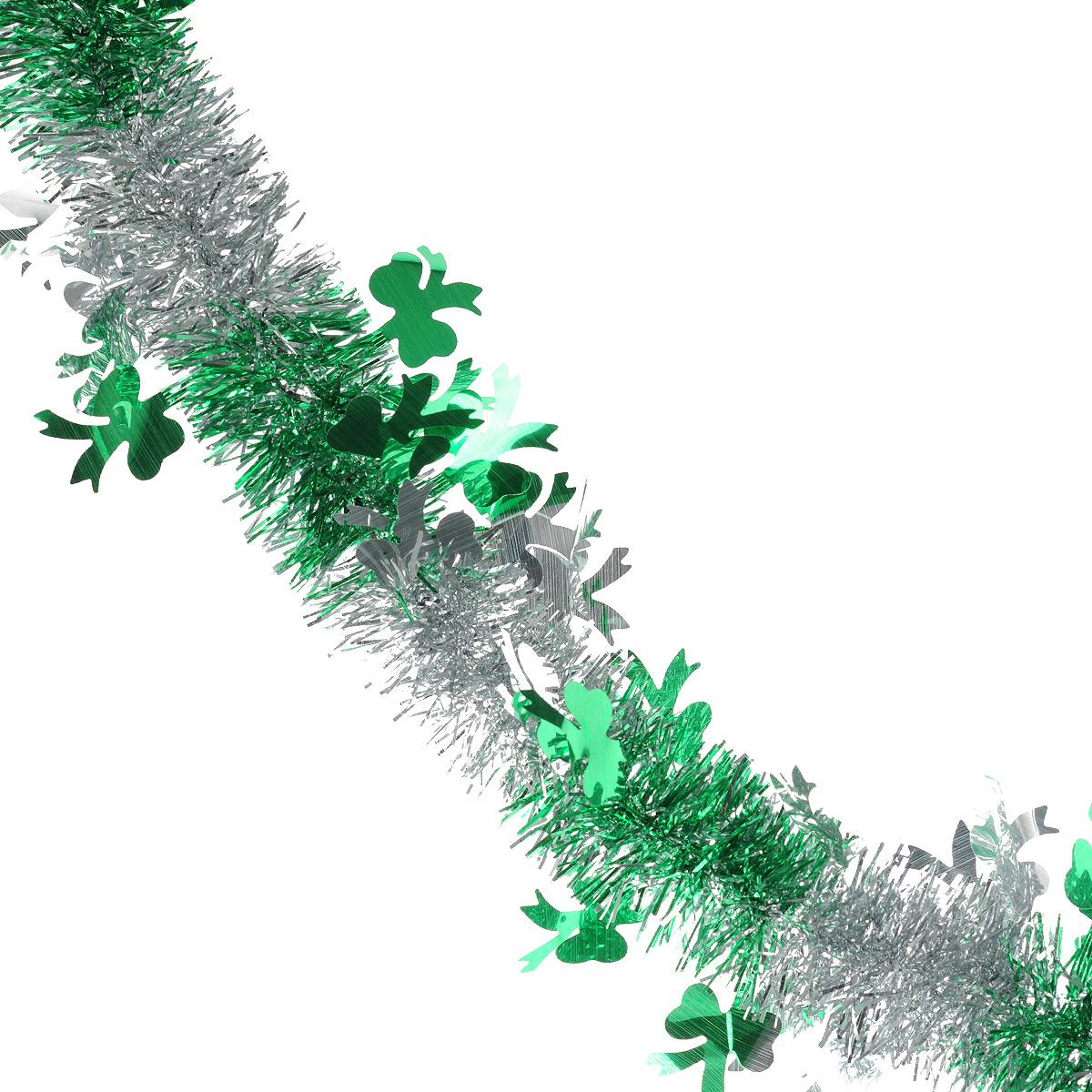 Мишура новогодняя Sima-land, цвет: серебристый, зеленый, диаметр 5 см, длина 200 см. 702605702605Мишура новогодняя Sima-land, выполненная из двухцветной фольги, поможет вам украсить свой дом к предстоящим праздникам. Мишура армирована, то есть имеет проволоку внутри и способна сохранять приданную ей форму.Новогодняя елка с таким украшением станет еще наряднее. Новогодней мишурой можно украсить все, что угодно - елку, квартиру, дачу, офис - как внутри, так и снаружи. Можно сложить новогодние поздравления, буквы и цифры, мишурой можно украсить и дополнить гирлянды, можно выделить дверные колонны, оплести дверные проемы. Коллекция декоративных украшений из серии Зимнее волшебство принесет в ваш дом ни с чем несравнимое ощущение праздника! Создайте в своем доме атмосферу тепла, веселья и радости, украшая его всей семьей.