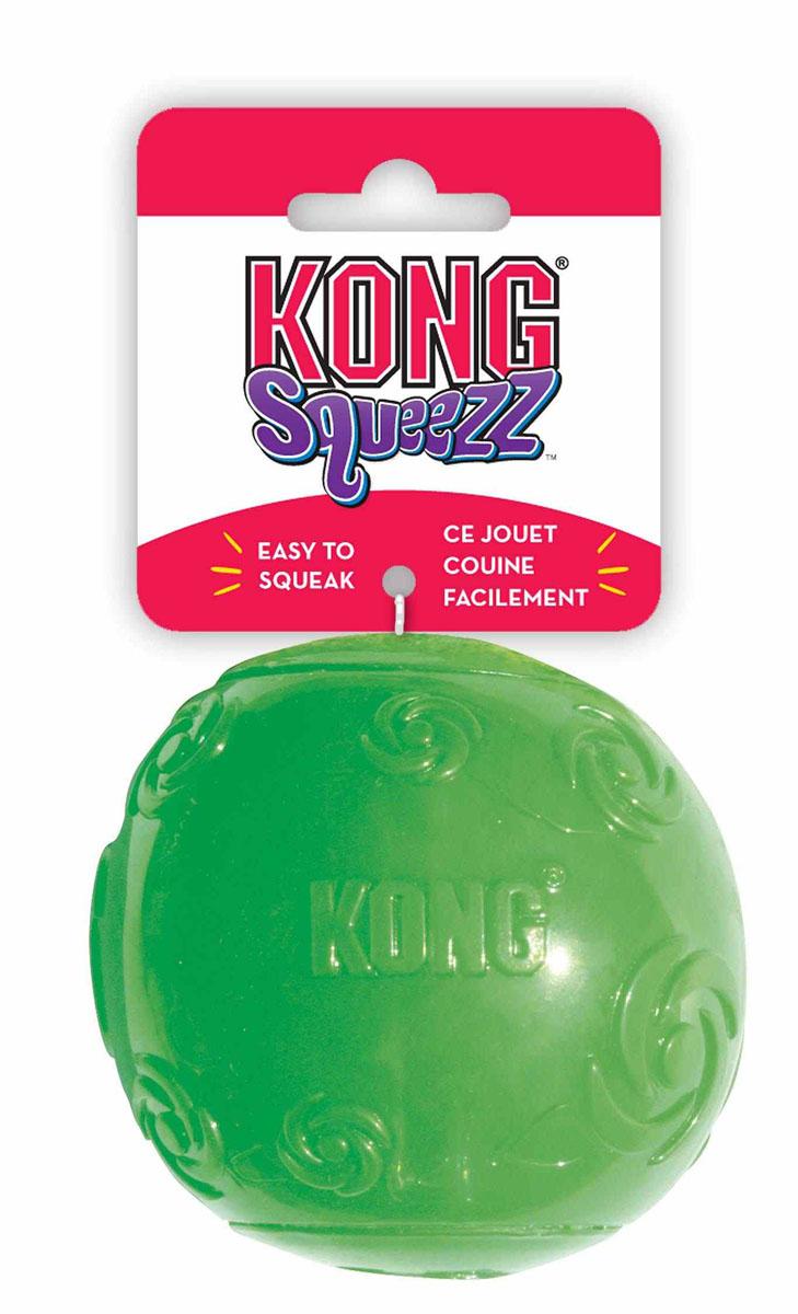 Игрушка для собак Kong Сквиз Мячик, средний, с пищалкой, цвет: зеленыйPSB2Игрушка для собак Kong Сквиз Мячик изготовлена из очень прочной и безопасной резины. Изделие оснащено пищалкой, которая встроена глубоко внутри, поэтому она более безопасна, чем другие пищалки и издает самые забавные звуки. Прекрасно подходит для игр с апортом, способность к непредсказуемым отскокам и пищалка гарантируют целую гамму веселья вам и вашей собаке.