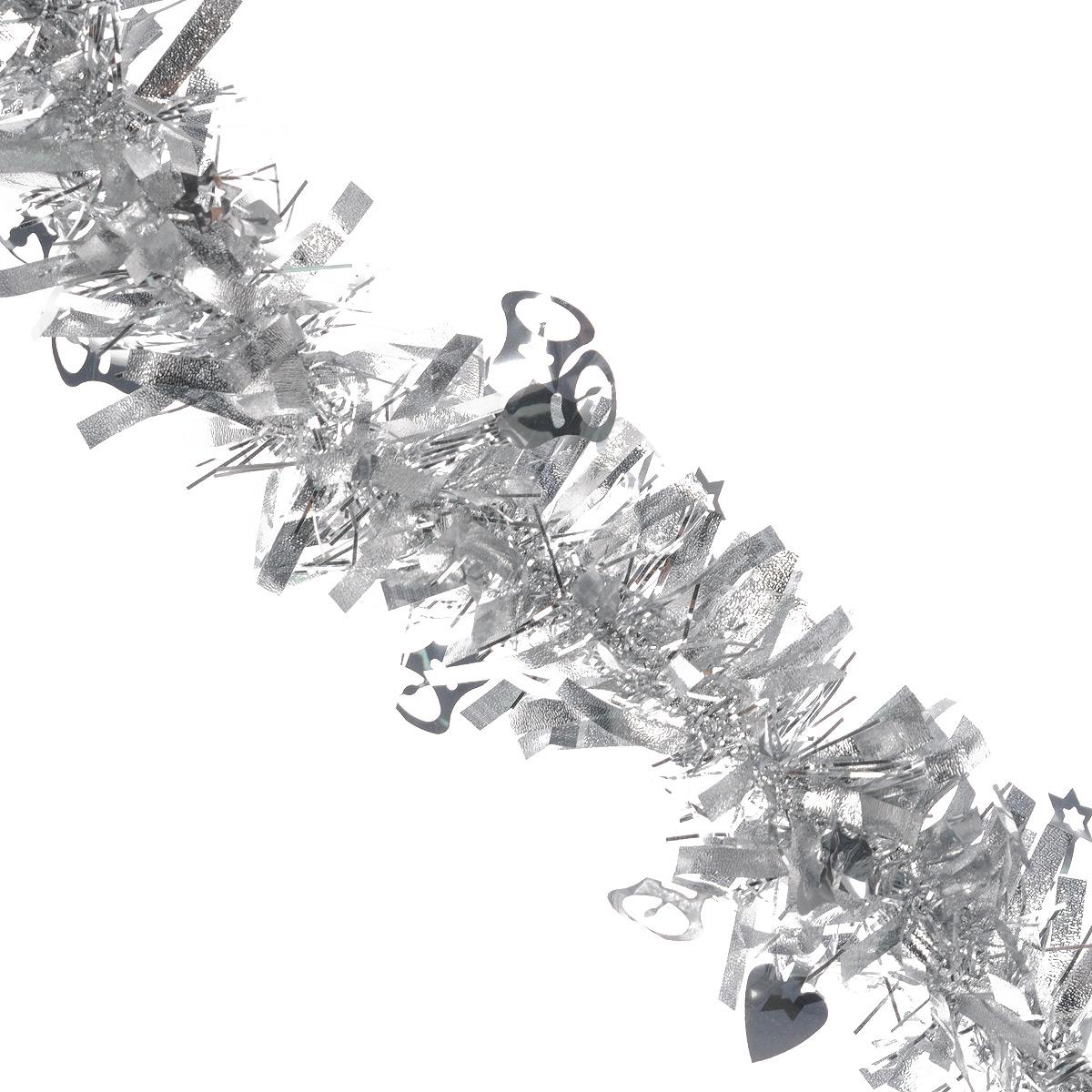 Мишура новогодняя Sima-land, цвет: серебристый, диаметр 8 см, длина 2 м. 702597702597Мишура новогодняя Sima-land, выполненная из фольги, поможет вам украсить свой дом к предстоящим праздникам. Мишура армирована, то есть имеет проволоку внутри и способна сохранять приданную ей форму.Новогодняя елка с таким украшением станет еще наряднее. Новогодней мишурой можно украсить все, что угодно - елку, квартиру, дачу, офис - как внутри, так и снаружи. Можно сложить новогодние поздравления, буквы и цифры, мишурой можно украсить и дополнить гирлянды, можно выделить дверные колонны, оплести дверные проемы. Коллекция декоративных украшений из серии Зимнее волшебство принесет в ваш дом ни с чем несравнимое ощущение праздника! Создайте в своем доме атмосферу тепла, веселья и радости, украшая его всей семьей.