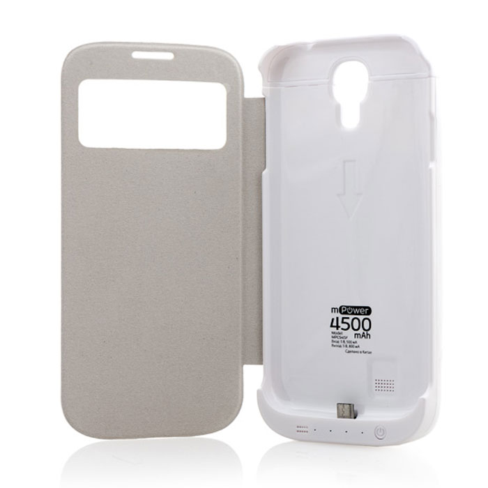 Gmini mPower Case MPCS45F, White чехол-аккумулятор чехол с аккумулятором gmini mpower case mpcs45f white для galaxy s4 4500mah flip cover