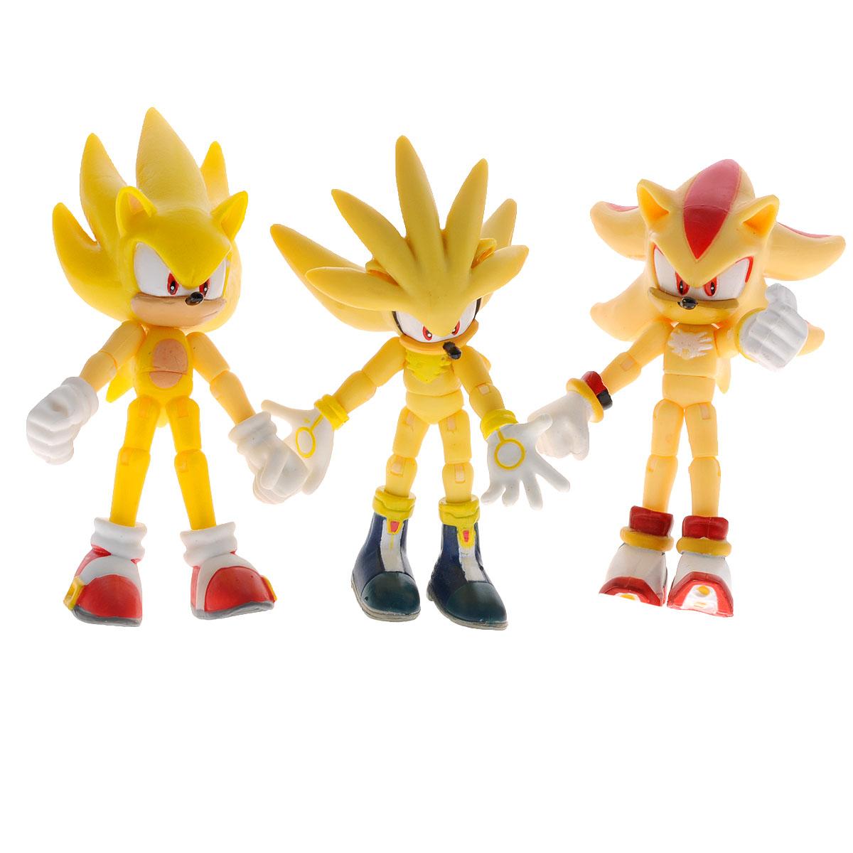 Набор фигурок Sonic Super Pack, с аксессуарами, 3 шт набор фигурок cut the rope 2 pack 9