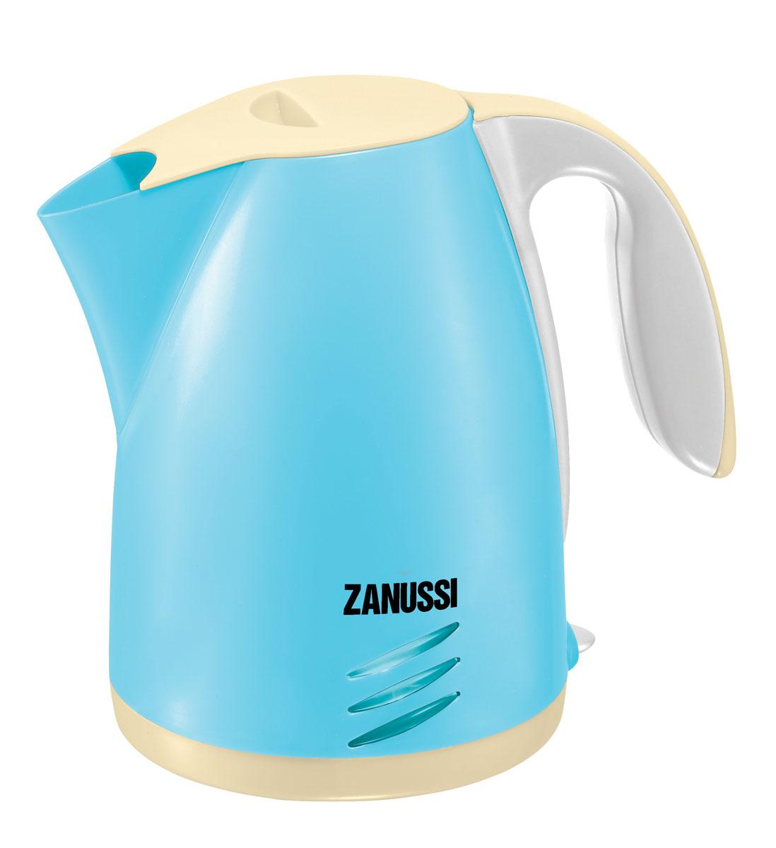 HTI Чайник Zanussi, цвет: голубой, белый, персиковый hti чайничек zanussi