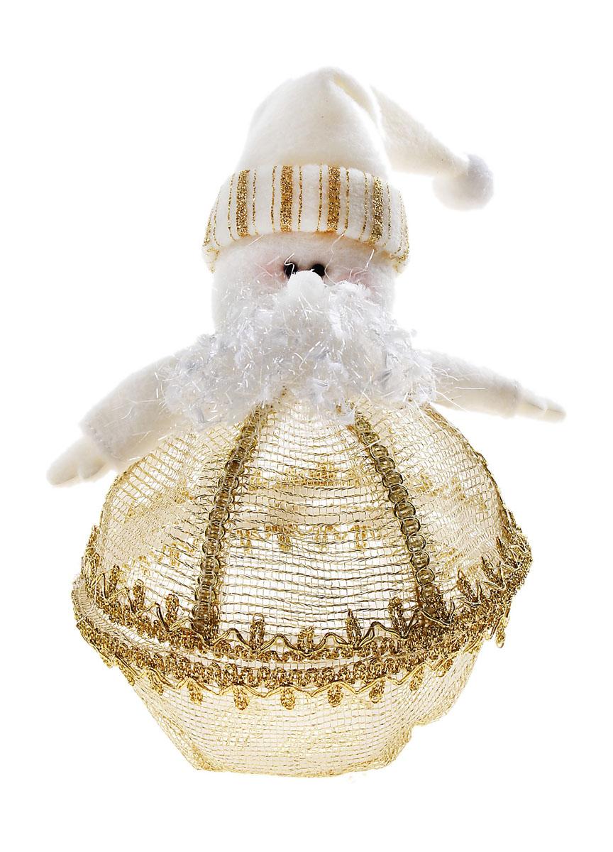 Декоративная новогодняя шкатулка Sima-land Дед Мороз, цвет: белый, золотистый. 540622540622