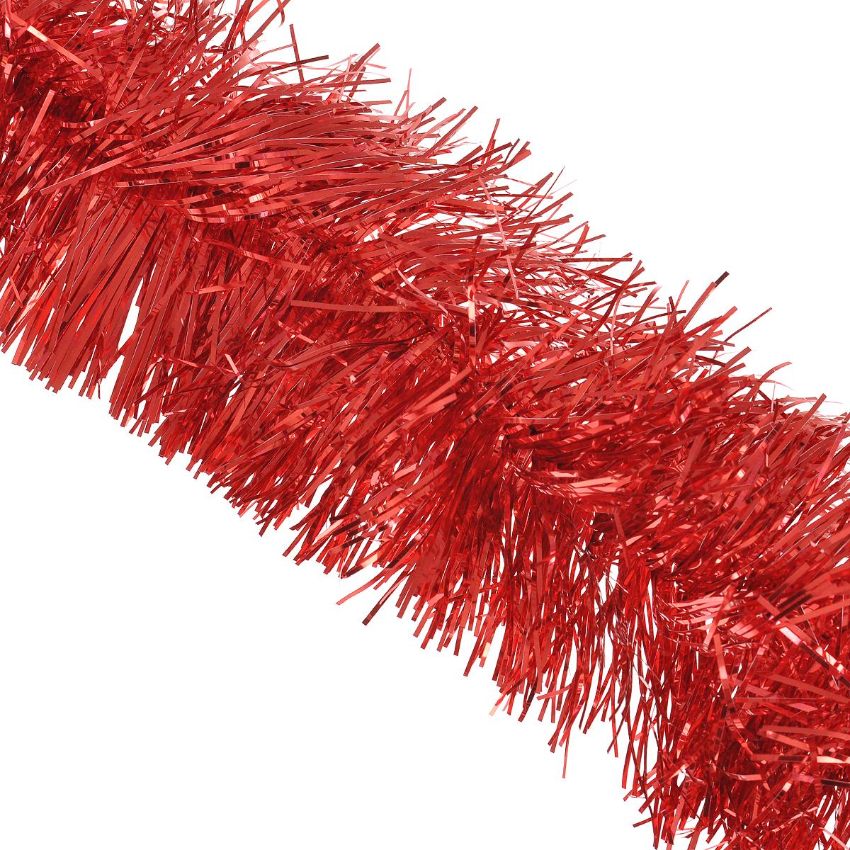 Мишура новогодняя Sima-land, цвет: красный, диаметр 12 см, длина 2 м. 702590702590Новогодняя мишура Sima-land, выполненная из фольги, поможет вам украсить свой дом к предстоящим праздникам. А новогодняя елка с таким украшением станет еще наряднее. Мишура армирована, то есть имеет проволоку внутри и способна сохранять приданную ей форму.Новогодней мишурой можно украсить все, что угодно - елку, квартиру, дачу, офис - как внутри, так и снаружи. Можно сложить новогодние поздравления, буквы и цифры, мишурой можно украсить и дополнить гирлянды, можно выделить дверные колонны, оплести дверные проемы. Коллекция декоративных украшений из серии Зимнее волшебство принесет в ваш дом ни с чем несравнимое ощущение праздника! Создайте в своем доме атмосферу тепла, веселья и радости, украшая его всей семьей.