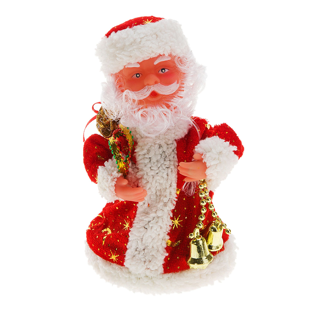 Новогодняя декоративная фигурка Sima-land Дед Мороз, анимированная, высота 18 см. 827789 игровые фигурки maxitoys фигура дед мороз в плетеном кресле музыкальный