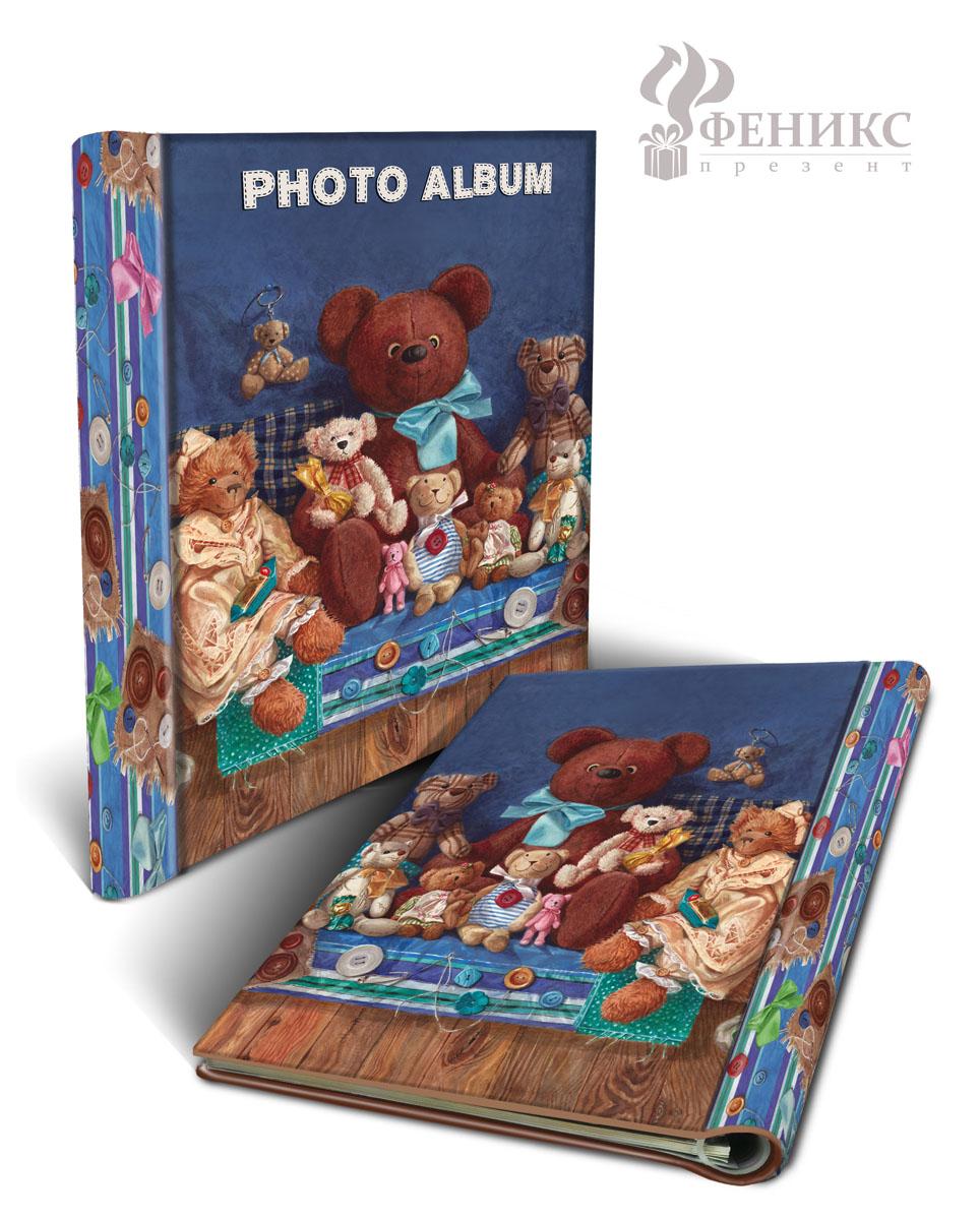 Фотоальбом Мишки, на кольцах, 20 магнитных листов, 22,5 х 28 см36547