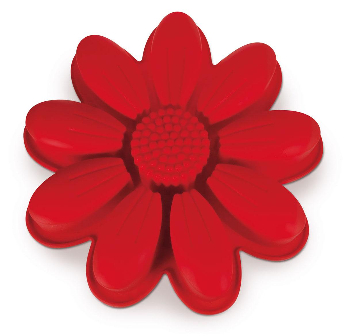 Форма для выпечки Dr.Oetker Flexxibel, цвет: красный, диаметр 27 см2189Форма Dr.Oetker Flexxibel будет отличным выбором для всех любителей выпечки. Благодаря тому, что форма изготовлена из силикона, готовую выпечку вынимать легко и просто. Изделие выполнено в форме подсолнуха. Форма прекрасно подходит для выпечки различных десертов. Это порционная форма для приготовления нескольких небольших порций. Она идеальна для одновременного приготовления в одной форме нескольких блюд на различные вкусы.С такой формой вы всегда сможете порадовать своих близких оригинальной выпечкой. Материал изделия устойчив к фруктовым кислотам, может быть использован в духовках, микроволновых печах, холодильниках и морозильных камерах (выдерживает температуру от -25°C до 250°C). Антипригарные свойства материала позволяют готовить без использования масла.Можно мыть и сушить в посудомоечной машине. При работе с формой используйте кухонный инструмент из силикона - кисти, лопатки, скребки. Не ставьте форму на электрическую конфорку. Не разрезайте выпечку прямо в форме.