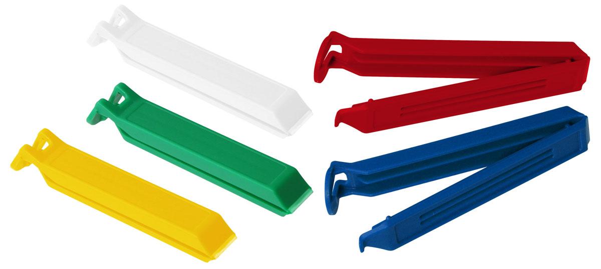 """Набор зажимов для пакетов Fackelmann """"Tecno"""" выполнены из прочного пластика. С этим замечательным приспособлением вы дольше сохраните свежесть продуктов, которые хранятся в пакетах. Кроме того, вы можете не пересыпать содержимое из пакетов в емкости для сыпучих продуктов, просто закройте пакет зажимом.Зажимы для пакетов Fackelmann """"Tecno"""" непременно станут незаменимыми помощниками на вашей кухне. Уважаемые клиенты! Обращаем ваше внимание на цветовой ассортимент товара. Поставка осуществляется в зависимости от наличия на складе."""