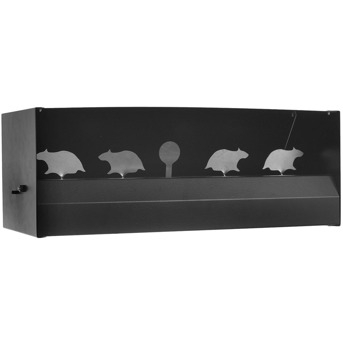 """Мишень-пулеуловитель """"4 крысы"""" - это оригинальный магнитный мини-тир. Предназначен для стрельбы из пневматического оружия. Выполнен из стали. Схема работы: выбиваете 4-х крыс, они пропадают, далее целитесь в кружок, при попадании в него крысы снова появляются в тире. Возврат товара возможен только при наличии заключения сервисного центра. Время работы сервисного центра:  Пн-чт: 10.00-18.00 Пт: 10.00- 17.00 Сб, Вс: выходные дни Адрес: ООО """"ГАТО"""", 121471, г.Москва, ул. Петра Алексеева, д 12., тел. (495)232-4670, gato@gato.ru"""